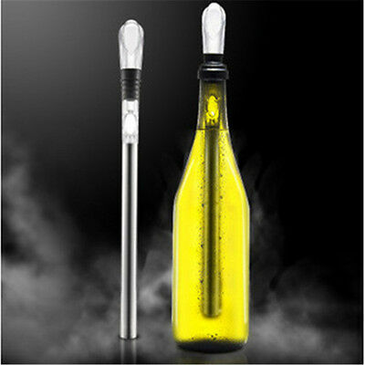 Stainless Steel Wine Bottle Cooling Chill Ice Cool Freezer Stick Rod and Poureλ