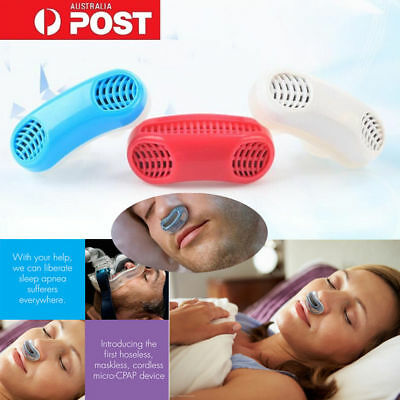 2in1 Anti Snoring Nose Clip Device Sleeping Aid Apnea Snore Air Purifier Night B