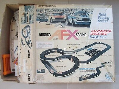 Vintage Aurora AFX slot car set 1970's all GC! Cars lovely! Racemaster Challenge