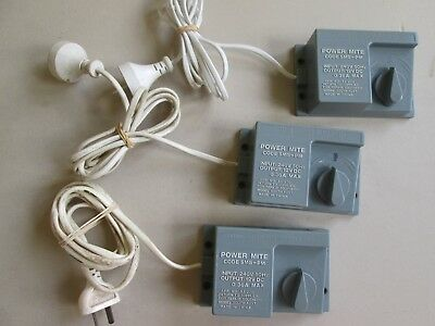 HO OO N power transformers + speed controllers x3 for model train set Power Mite