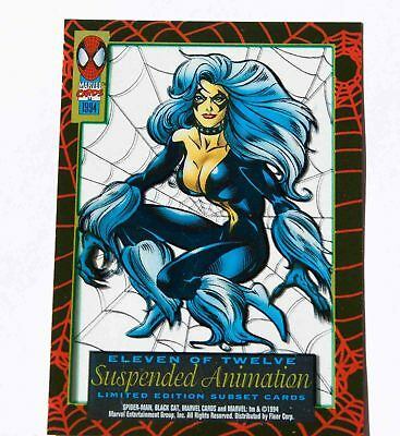 Black Cat Marvel 1994 Limited Edition Suspended Animation Subset, Spiderman11/12