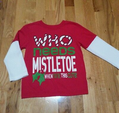 Who Needs Mistletoe When You're This Cute! Christmas Holiday Shirt 3T