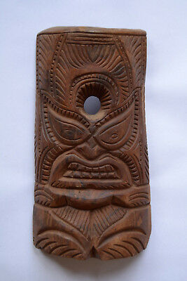 Vintage Polynesian wood mask of maui/taki