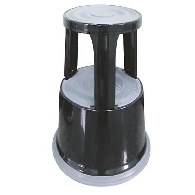 Q-Connect Metal Step Stool Black KF04845, Height: 430mm [KF04845]
