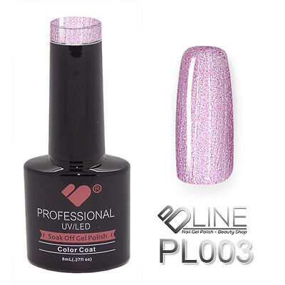 PL003 VB Line Platinum Pink Purple Gold Metallic - gel nail polish - gel polish