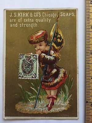 Victorian advertising cards J.S Kirk & Co Chicago soaps vintage