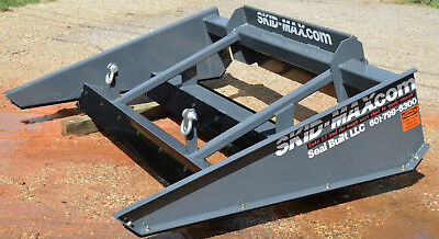 "SKID-MAX 3X, 84"" Skid Steer Grader Attachment Leveling Spreading with SHIM KIT"