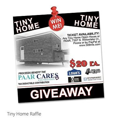 Win This Tiny Home! Only 2500 Tickets Will Be Sold & Purchase Is Tax Deductible