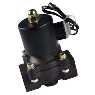 "DC12V 3/4"" Electric Solenoid Normal Closed Valve Water Oil Fuel Gas Plastic"