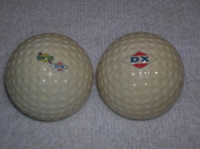 Vintage DX & SUNOCO DX GOLF BALLS 2 BALLS gas oil advertising