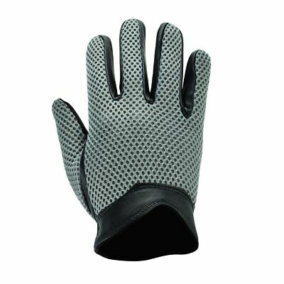 Mens Real Leather Top Quality Premium Mesh Net Driving Gloves