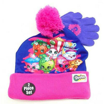 Shopkins Girls Beanie Hat and Gloves Set (Little Kid/Big Kid)