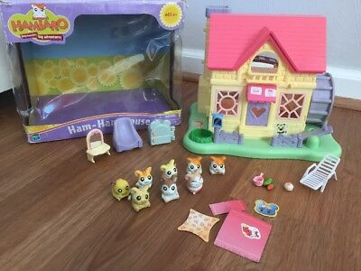 Hamtaro Ham Ham House Mixed Lot Characters Accessories With Box