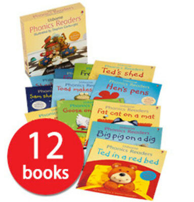 Usborne Phonics Readers Collection - 12 Books