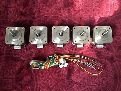 ECO-WORTHY 5PCS Nema 17 12V High Torque Stepper Motors Kits 26Ncm 0.4A Draw *UK*