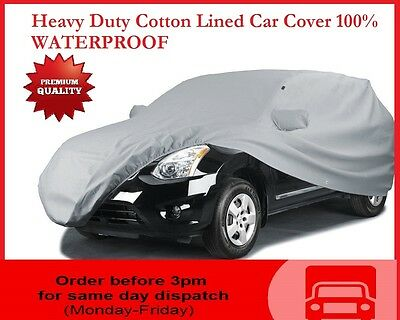 Peugeot 106 (91-03) Premium Fully Waterproof Car Cover Cotton Lined Luxury Heavy