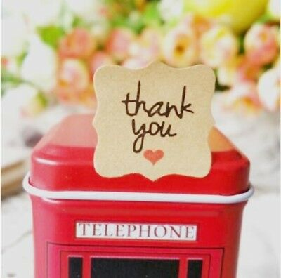 Vintage Handmade with Love Stickers Thank You Stickers Love Heart