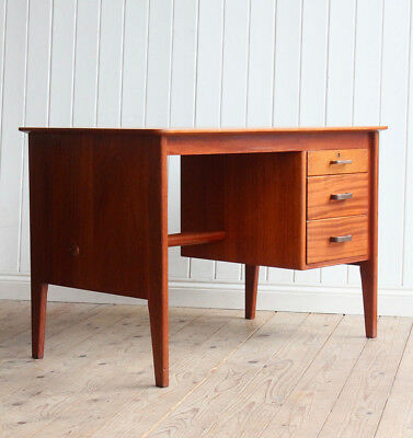 Vintage Gordon Russell Teak Single Pedestal Desk Mid Century
