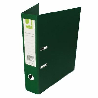 Q-Connect Green Foolscap Polypropylene Lever Arch File (Pack of 10)  [KF20028]