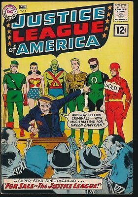 DC SILVER AGE CLASSIC - 1961 JUSTICE LEAGUE of AMERICA #8 - SOLID COPY