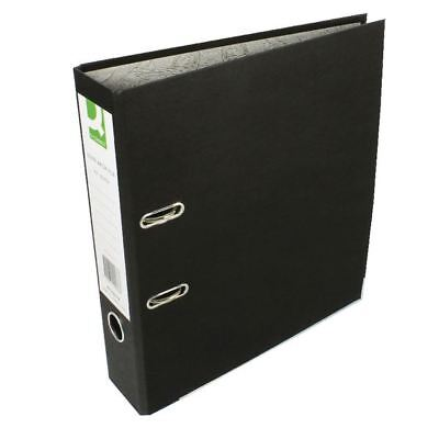 Q-Connect Black A4 Paper-Backed Lever Arch File (Pack of 10) [KF20038]