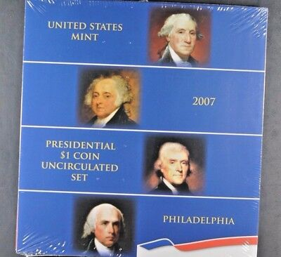 2007 US Mint PRESIDENTIAL $1 COIN UNCIRCULATED SET Philadelphia P