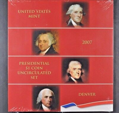 2007 US Mint PRESIDENTIAL $1 COIN UNCIRCULATED SET Denver D