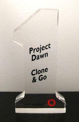 Lucent Technologies Bell Labs 1 Project Dawn Clone & Go Lucite Desk Paperweight