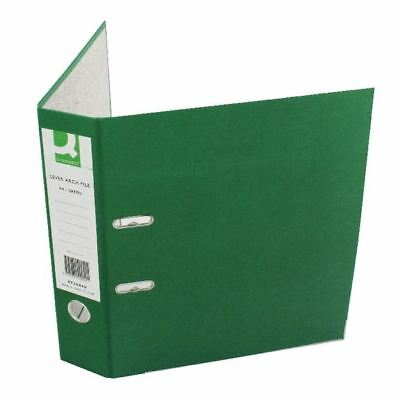 Q-Connect Green A4 Paperbacked Lever Arch File (Pack of 10) [KF20040]