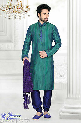Gents Wear Bollywood Clothing Kurta Payjama Pakistani Ethnic Wedding Dress India