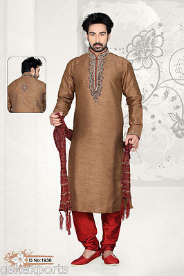 Indian Mens Ethnic Wedding Wear Traditional Pakistani Bollywood Kurta Pajama