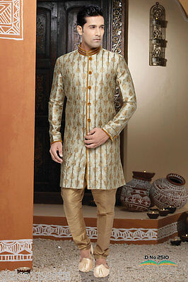 Indian Mens Indo Western Designer Traditional Wedding Bollywood Cultural Dress