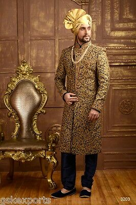 Mens Ethnic Wear Bollywood Gents Traditional Boys Sherwani From India