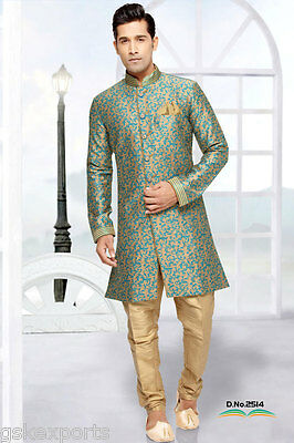 Indian Gents Indo Western Pakistani Wedding Clothing Bollywood Ethnic Dress