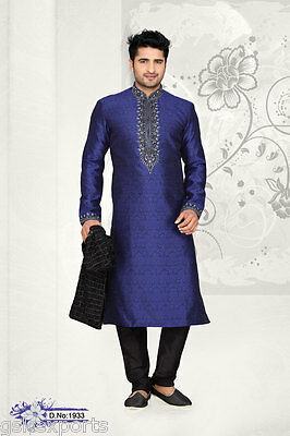 Indian Mens Ethnic Wear Wedding Wear Pakistani Clothing Bollywood Kurta Pajama
