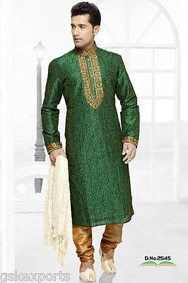 Mens Wear Bollywood Pakistani Kurta Payjama Clothing Wedding Dress From India