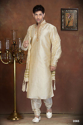 Off White Colour Indian Wedding Wear Cultural Ethnic Wear Mens Kurta Payjama