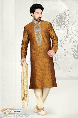 Mens Wear Indian Ethnic Wear Bollywood Wedding Designer Clothing Kurta Payjama