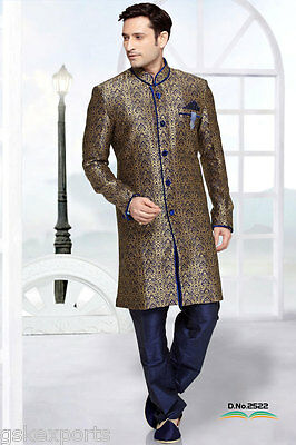 Indian Gents Wear Indo Western Traditional Bollywood Designer Wedding Dress