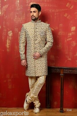 Mens Designer Wear Traditional Pakistani Bollywood Indo Western Dress From India