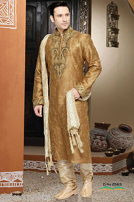 Indian Mens Designer Wear Traditional Cultural Kurta Pajama Wedding Dress India