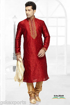Indian Mens Wedding Wear Designer Traditional Bollywood Clothing Kurta Payjama