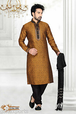 Mens Ethnic Bollywood Pakistani Kurta Payjama Clothing Wedding Designer Dress