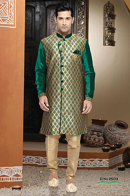 Mens Indowestern Pakistani Gents Wear Bollywood Traditional Wedding Clothing