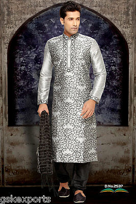Mens Ethnic Designer Wedding Wear Bollywood Clothing Kurta Payjama From India