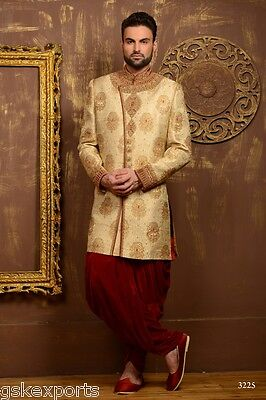 Pakistani Designer Wear Traditional Bollywood Gents Sherwani Dress From India