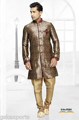 Indian Bollywood Ethnic Mens Pakistani Wedding Clothing Traditional Indo Western