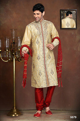 Indian Mens Wear Ethnic Designer Wedding Kurta Payjama Bollywood Dress India