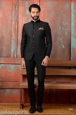 Indian Mens Wear Black Jodhpuri Designer Party Wear Boys Coat From India