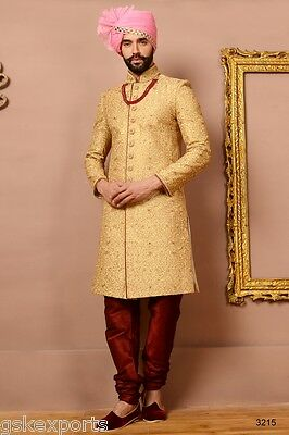 Indian Mens Traditional Wear Pakistani Bollywood Sherwani Dress From India